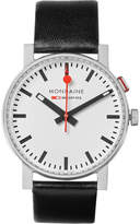 Mondaine - Evo Alarm Stainless Steel And Leather Watch