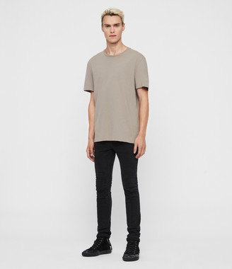 AllSaints Cigarette Damaged Skinny Jeans, Black