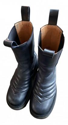 Bottega Veneta Storm Blue Leather Ankle boots