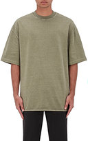 Yeezy Men's Oversized Mélange Jersey T-Shirt-GREEN, DARK GREY