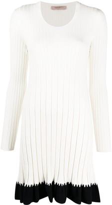 Twin-Set Ribbed-Knit Midi Dress