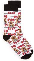 Topman White Pug Shot Socks