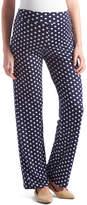Glam Navy & White Polka Dot Maternity Straight-Leg Pants