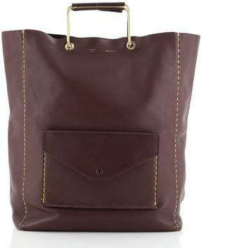 Celine Vertical Envelope Cabas Tote Leather Large