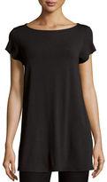 Eileen Fisher Cap-Sleeve Jersey Tunic