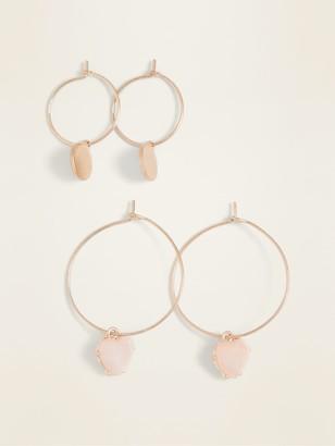 Old Navy Hoop Earrings 2-Pack for Women