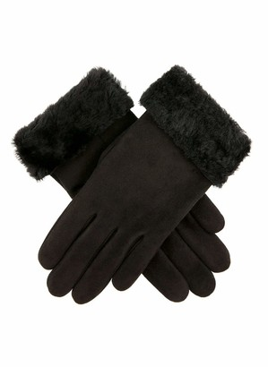 Dents Louisa Women's Sheepskin Gloves BLACK S
