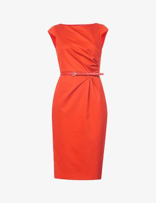 Max Mara Zic belted stretch-cotton midi dress
