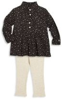 Ralph Lauren Baby's Two-Piece Pleated Top & Rib-Knit Leggings Set