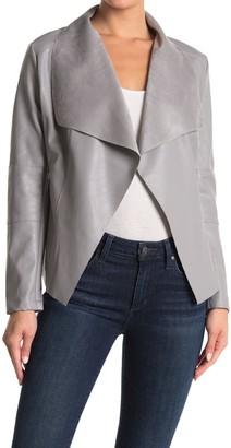 Love Token Caleb Faux Leather Foldover Drape Jacket