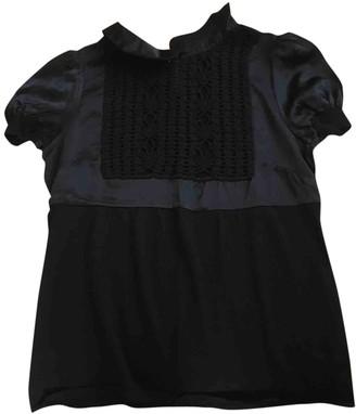 Philosophy di Alberta Ferretti Black Wool Top for Women