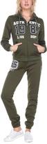 Stanzino Olive 'Authentic' Hooded Jacket & Sweatpants Lounge Set