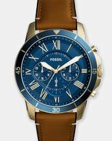 Fossil Grant Brown Chronograph Watch