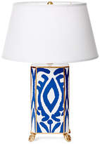 Dana Gibson Ikat Table Lamp   Navy