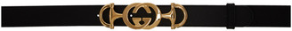 Gucci Black Interlocking GG Horsebit Belt