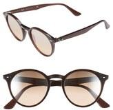 Ray-Ban Women's 'Highstreet' 51Mm Round Sunglasses - Dark Brown