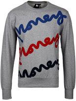 Money Grey Triple Sig Crew Neck Sweatshirt