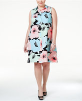 Calvin Klein Plus Size Floral-Print Shirtdress