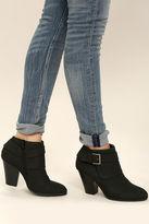 Liliana Illse Black High Heel Ankle Booties