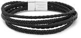 Tateossian - Cobra Woven Leather Silver-tone Bracelet