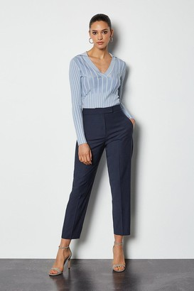 Karen Millen Luxe Wool Blend Suit Trousers