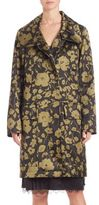 Michael Kors Floral Print Angora Blend Coat