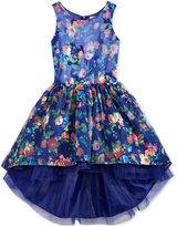 Nanette Lepore Floral-Print High-Low Dress, Big Girls (7-16)