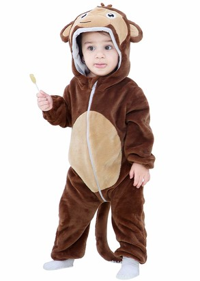 Happy Cherry -Jumpsuit Baby Kids Winter Coat Pajamas All Off Cartoon Animal Series Small Size Cosplay Home Hooded Onesie Halloween Christmas