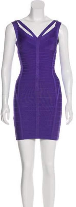 Herve Leger Sleeveless Bandage Dress Sleeveless Bandage Dress