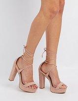 Charlotte Russe Lace-Up Platform Sandals
