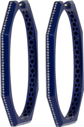 Sorellina Otto Navy Diamond Hoop Earrings