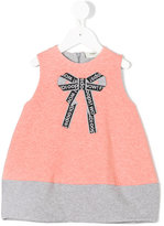 Fendi bow print dress - kids - Cotton/Spandex/Elastane - 9 mth