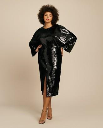 Sally LaPointe Stretch Sequins Dolman Dress