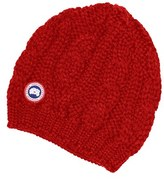 Canada Goose Women's Cable Knit Merino Wool Beanie - Red