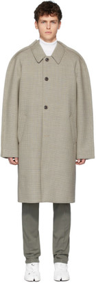Maison Margiela SSENSE Exclusive Tan Wool Check Coat