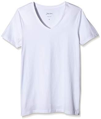 Signum Men's T-Shirt v-Neck Dopa Optical White, 3XL (Pack of 2