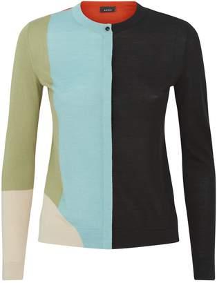 Akris Printed Cashmere-Silk Cardigan