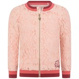 GUESS GuessGirls Pink Lace Zip Up Cardigan