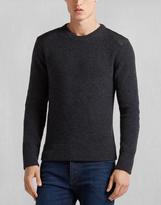 Belstaff Parry Crewneck Sweater Dark Grey Melange