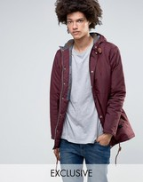 Minimum Shelton Hooded Parka In Burgundy
