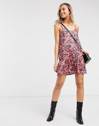 In The Style x Jac Jossa drop hem swing dress in multi floral