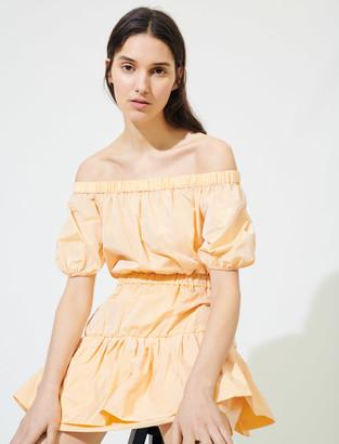 Maje Elasticated taffeta A-line dress