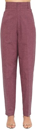 Etoile Isabel Marant Loulia Cropped Cotton Canvas Pants