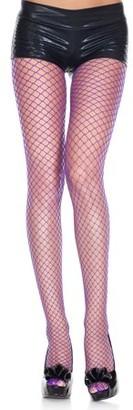 Music Legs Mini diamond net spandex pantyhose 9030-FUCHSIA