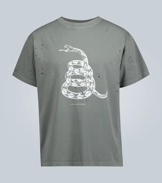 Satisfy Moth-eaten short-sleeved T-shirt