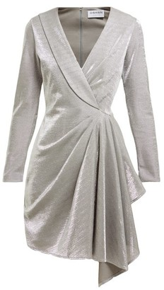 Osman Hanoi Cotton-blend Asymmetric Mini Dress - Womens - Silver