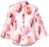Christian Siriano tulip print blouse