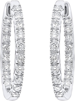 Diamond Select Cuts Diana M. Fine Jewelry 14K 1.00 Ct. Tw. Diamond Hoops