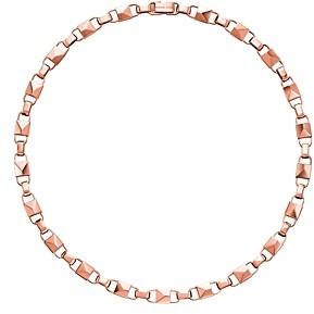 Michael Kors Mercer Large Link Sterling Silver Necklace in 14K Gold-Plated Sterling Silver, 14K Rose Gold-Plated Sterling Silver or Solid Sterling Silver, 16