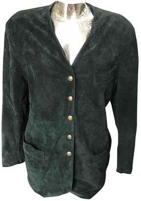 Georges Rech Green Leather Jacket for Women Vintage